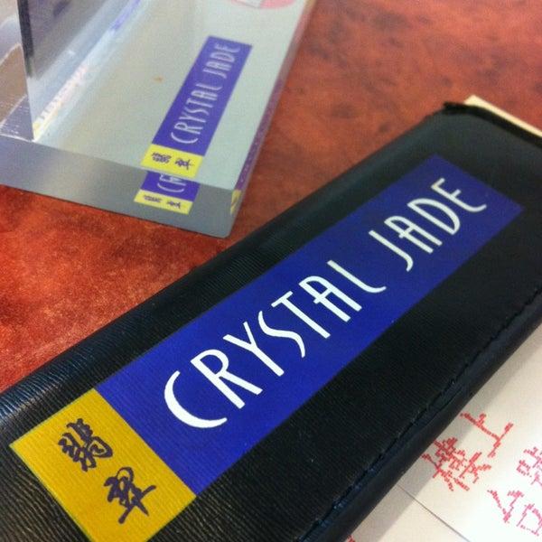 Photo taken at Crystal Jade Kitchen 翡翠小厨 by Apr K. on 1/16/2013