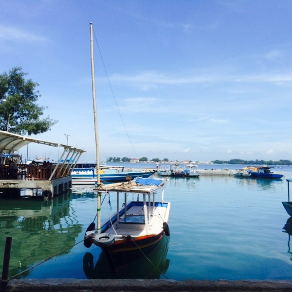 Photo taken at Pulau Pramuka by Adie M. on 3/19/2015