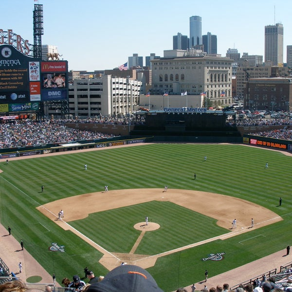 The Detroit Tigers moved into this ballpark in 2000. It seats roughly 41,000 people, has one of the largest scoreboards in sports, and features sculptures of some of the team's greatest players.