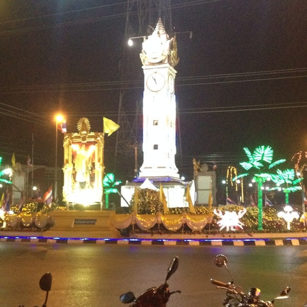 Photo taken at Maha Sarakham Clock Tower by Pichpattra W. on 12/31/2013