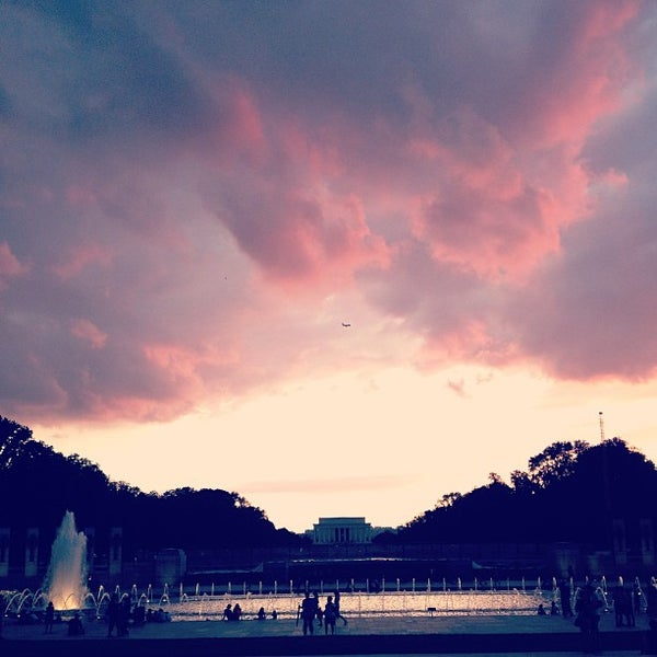 Photo taken at World War II Memorial by Angelica on 7/26/2013