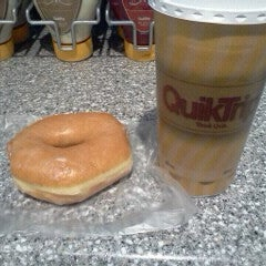 Glazed donut & any size hot drink $1.69 while supplies last.