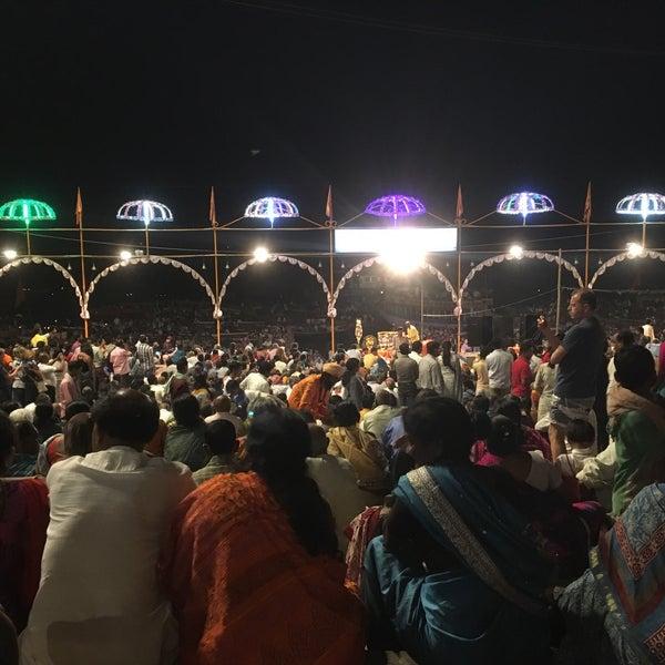 Photo taken at Dasaswamedh Ghat by Anja on 3/18/2017