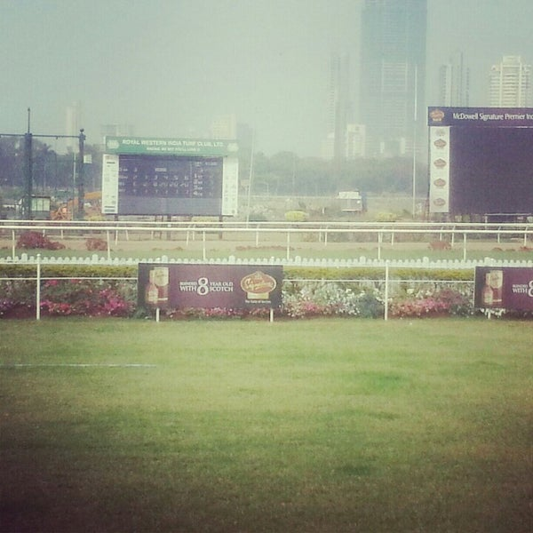 Photo taken at Mahalaxmi Race Course (Royal Western India Turf Club) by G_astronomy on 2/1/2013