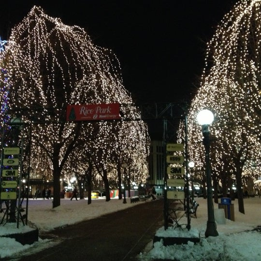 Photo taken at Rice Park by Rachael D. on 12/15/2012