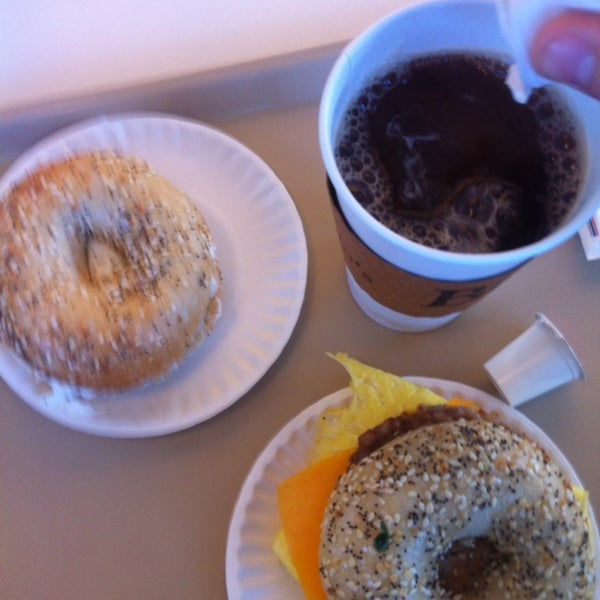 Photo taken at Bodo's Bagels by Patrick T. on 12/12/2013
