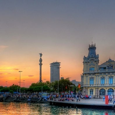 Don't miss the colorful sunsets from Barcelona's Port Vell!