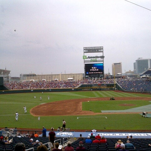 Photo taken at TD Ameritrade Park by Aaron M. on 6/15/2013