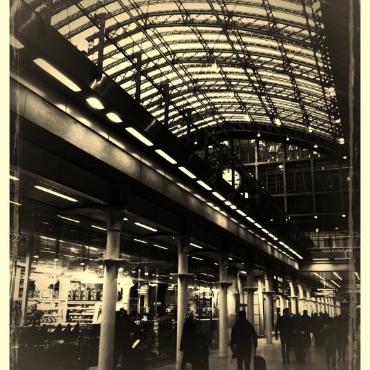 Photo taken at London St Pancras International Railway Station (STP) by Jerome N. on 1/19/2013