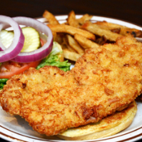 Try the Indiana Breaded Pork Tenderloin!
