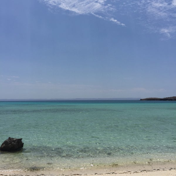 Photo taken at Playa Pichilingue by Juan S. on 5/13/2016