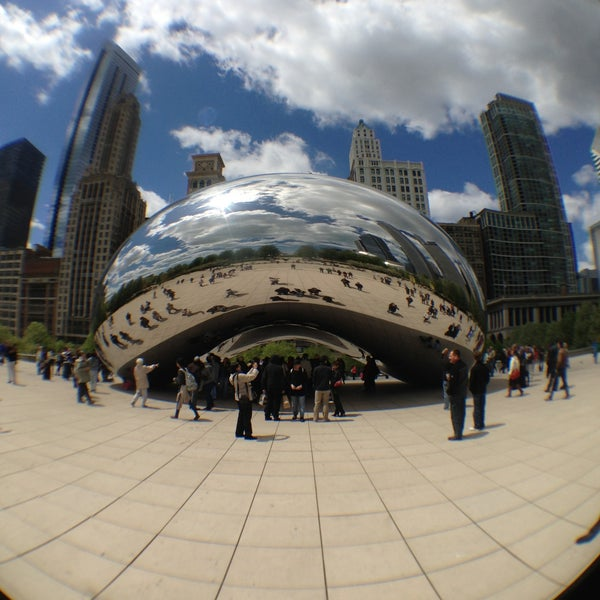 Photo taken at Cloud Gate by Anish Kapoor by Yuriy C. on 5/12/2013