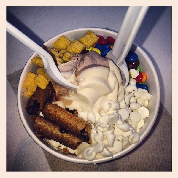 Photo taken at Pinkberry by Andrew B. on 2/23/2014