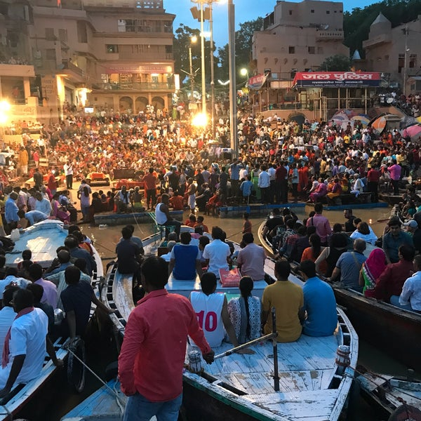 Photo taken at Dasaswamedh Ghat by Mahaveer C. on 7/29/2017