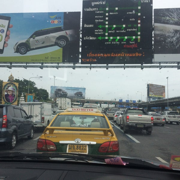 Photo taken at Dao Khanong Toll Plaza by KissCaT C. on 10/6/2015