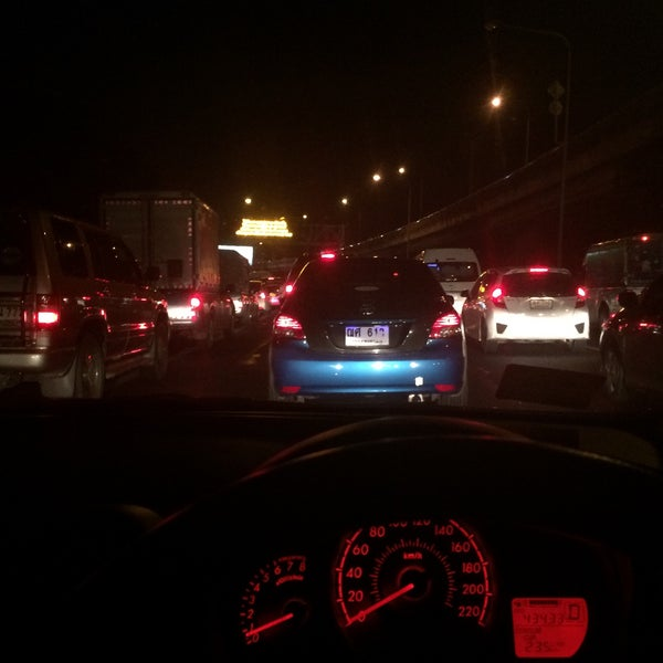 Photo taken at Dao Khanong Toll Plaza by KissCaT C. on 7/29/2015