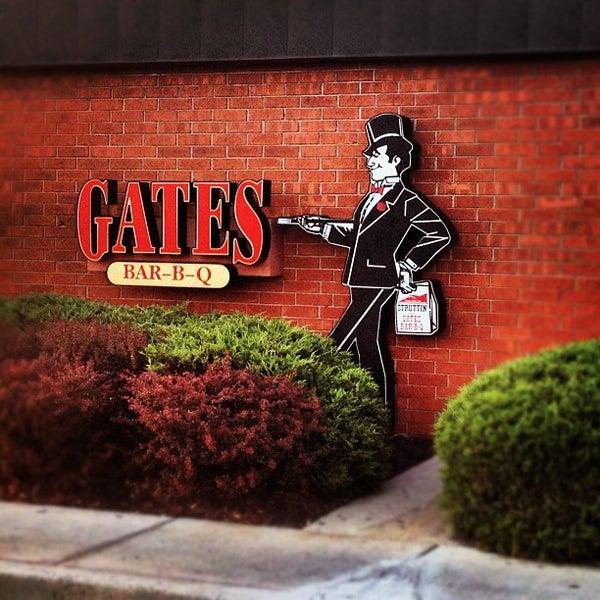 Photo taken at Gates Bar-B-Q by Jackie J. on 9/30/2012