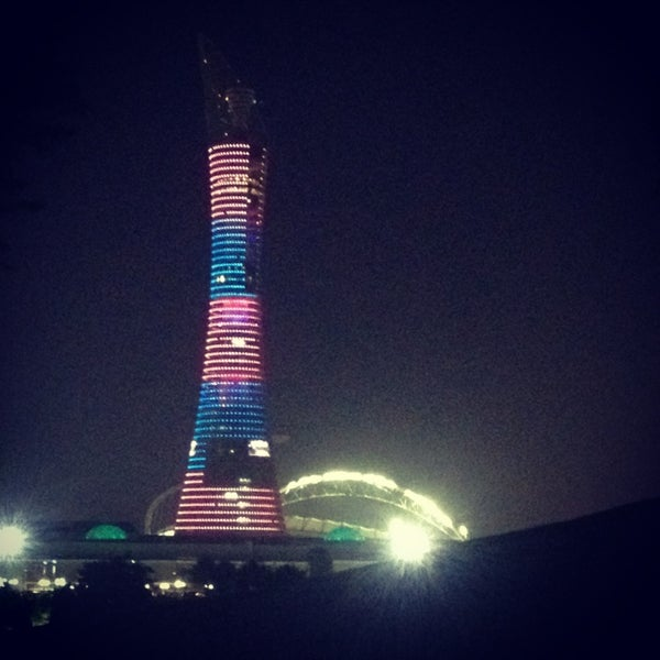 Photo taken at Aspire Park by Sarah E. on 1/6/2013