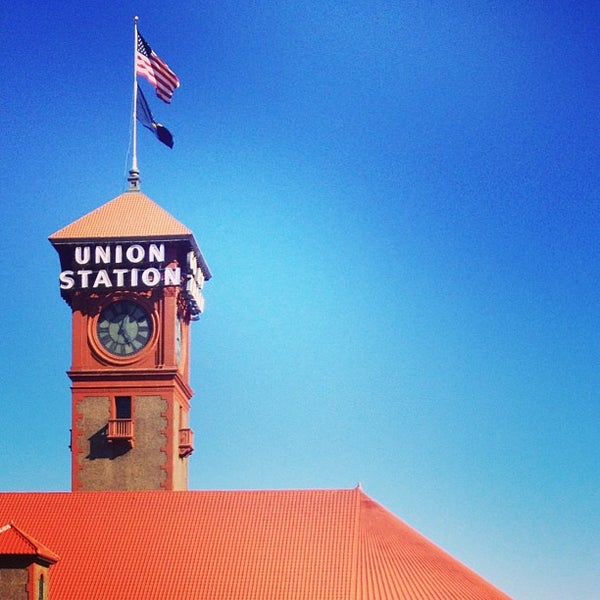 Photo taken at Union Station Amtrak (PDX) by Jonny B. on 8/7/2013