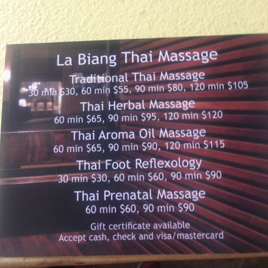 La Biang Thai Massage 77