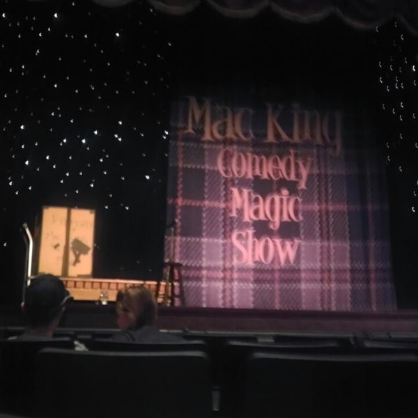 Photo taken at The Mac King Comedy Magic Show by natalie l. on 12/21/2013