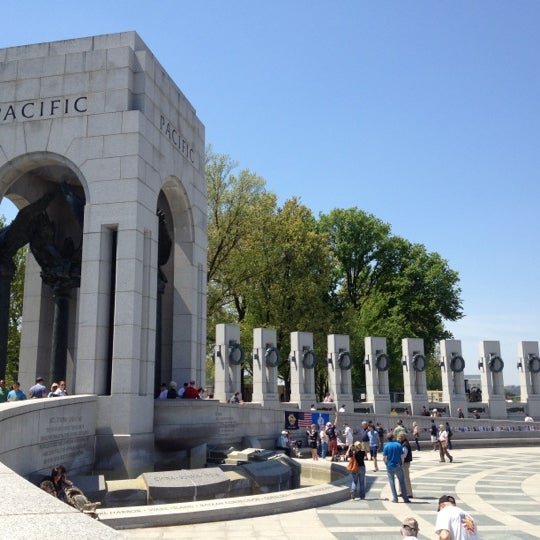 Photo taken at World War II Memorial by Winery E. on 4/27/2013