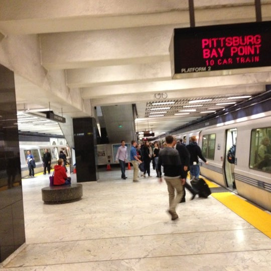 Photo taken at Civic Center/UN Plaza BART Station by Noah T. on 10/22/2012