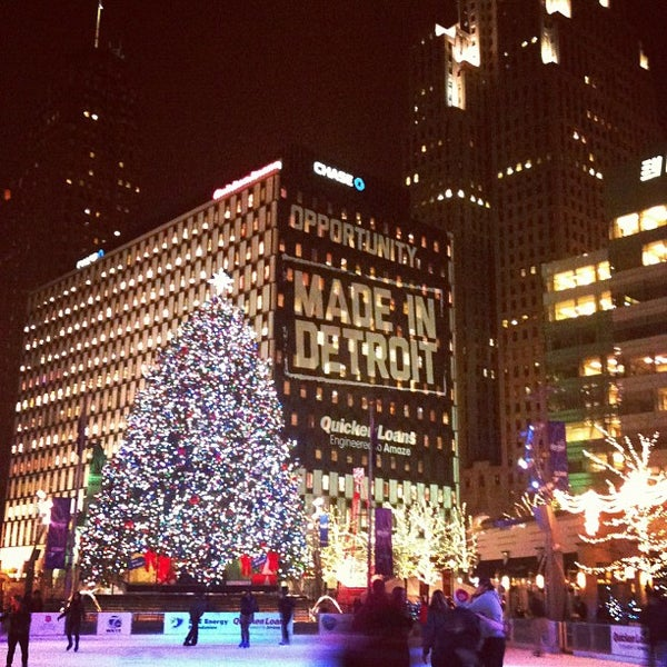 Photo taken at Campus Martius by Aubrey on 11/20/2012