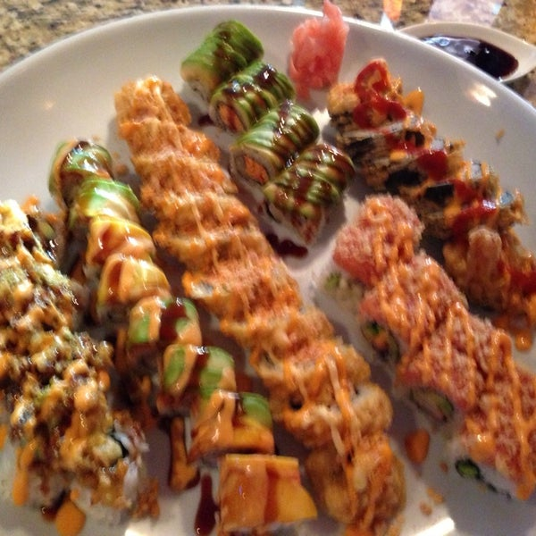 Photo taken at Sushi On The Rocks by Dawn J. on 8/15/2013