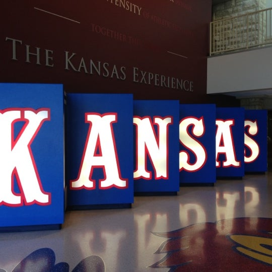 Photo taken at Allen Fieldhouse by Lily G. on 11/3/2012