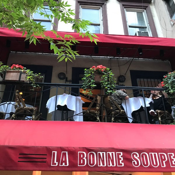 Photo taken at La Bonne Soupe by Daniel P. on 6/10/2017