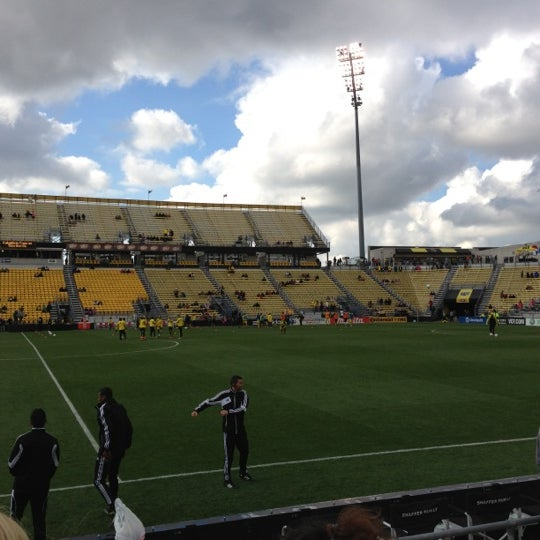Photo taken at MAPFRE Stadium by Amy D. on 10/7/2012