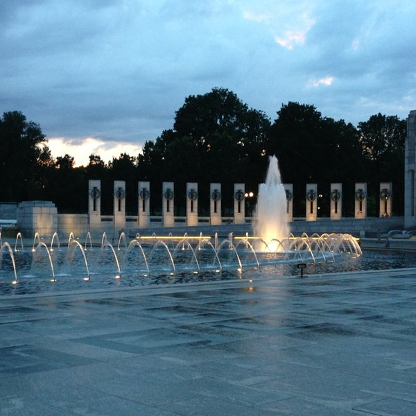 Photo taken at World War II Memorial by Andrew B. on 6/27/2013