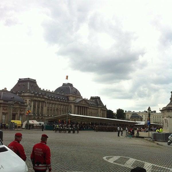 Photo taken at Paleizenplein / Place des Palais by Peter B. on 7/21/2012