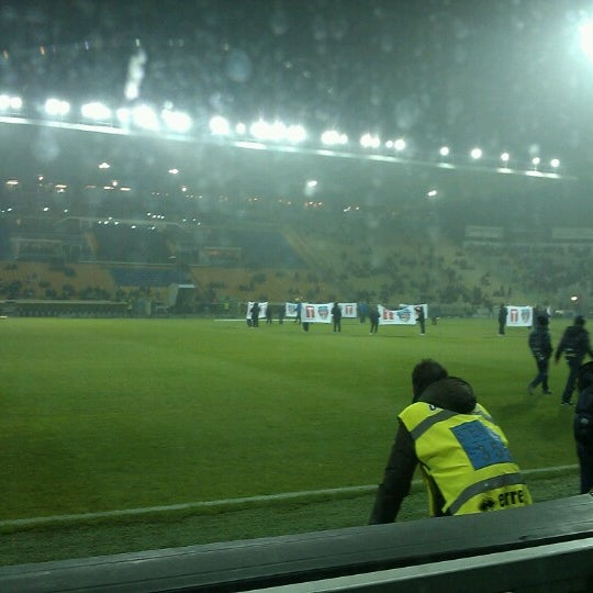 Photo taken at Stadio Ennio Tardini by Nicola S. on 11/26/2012