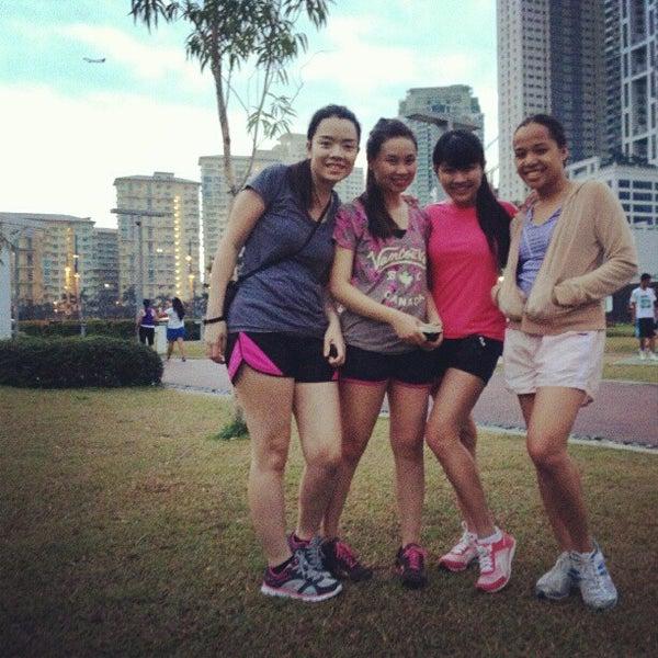 Photo taken at Bonifacio High Playground by Elaine S. on 2/2/2013