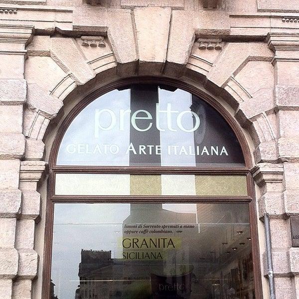Foto scattata a Pretto Gelato Arte Italiana da Clio D. il 10/1/2013