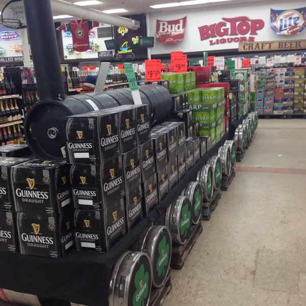 Photo taken at Big Top Liquors by David D. on 3/14/2014