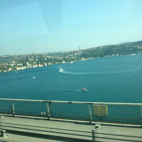 Photo taken at Fatih Sultan Mehmet Bridge by Lalinn Y. on 7/28/2013