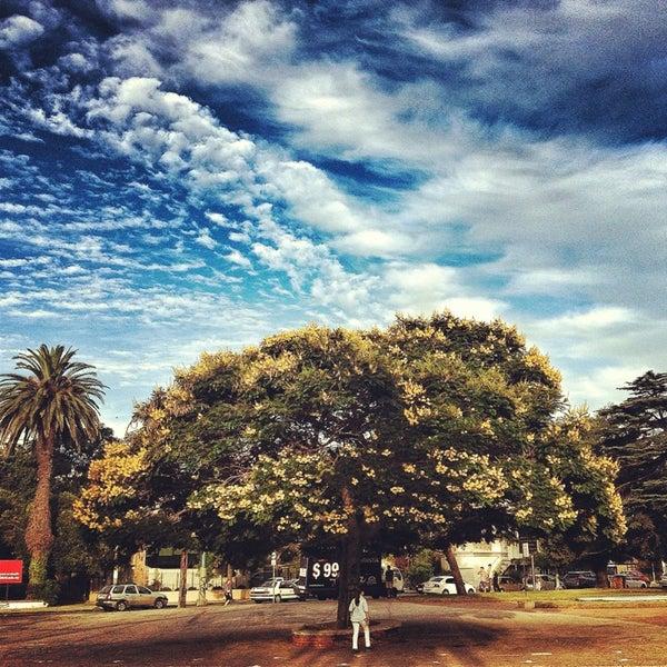 Photo taken at Parque José Enrique Rodó by Javier G. on 2/5/2013