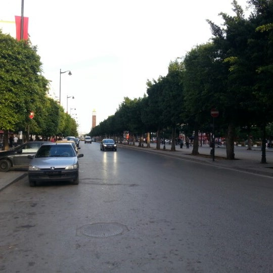 Photo taken at Avenue Habib Bourguiba by Hyungoo J. on 10/27/2012