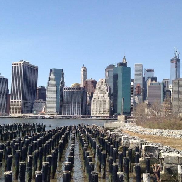 Photo taken at Brooklyn Bridge Park by Sara R. on 4/9/2013