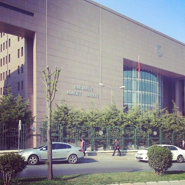 Photo taken at Bakırköy Adalet Sarayı by Ozan A. on 4/25/2013
