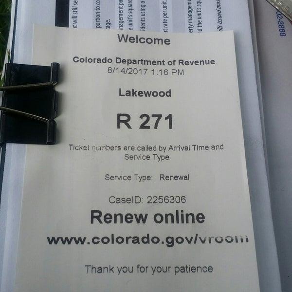 Colorado Division Of Motor Vehicles Lakewood
