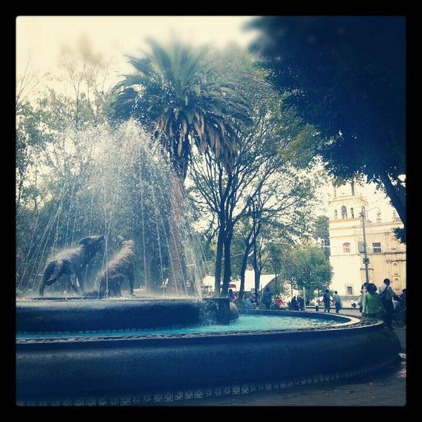 Photo taken at Jardín Hidalgo by Arturo C. on 11/30/2012