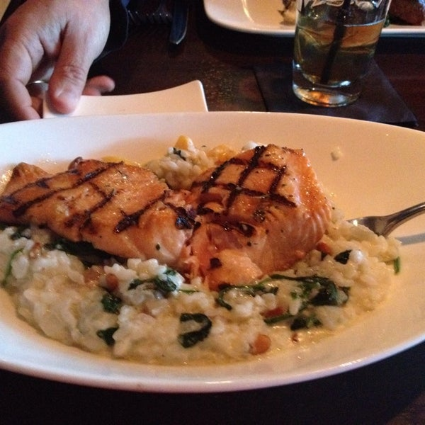 Butternut risotto with salmon.    So yummy.   Zack The waiter RULES!!!