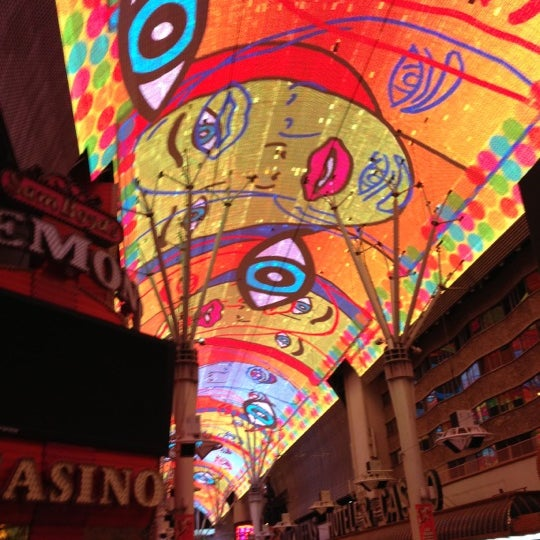 Photo taken at Fremont Street Experience by Shannon G. on 12/1/2012
