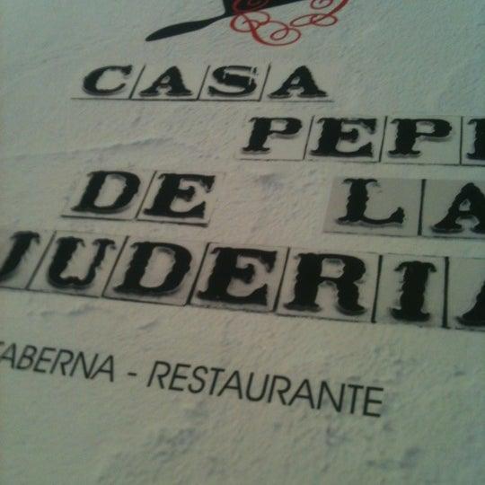 Foto tomada en Casa Pepe de la Judería por Fran el 3/23/2012