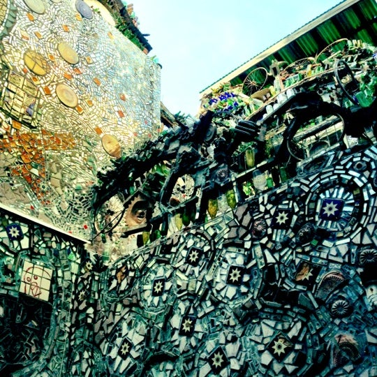 Photo taken at Philadelphia's Magic Gardens by Adriaan S. on 4/8/2012