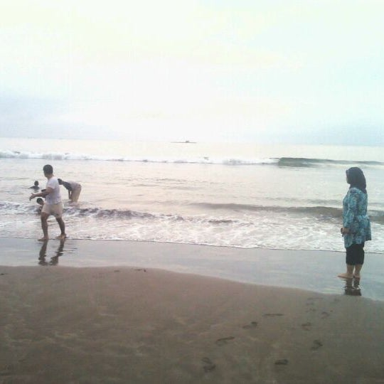 Photo taken at Pantai Barat Pangandaran by Hilda F. on 10/22/2011